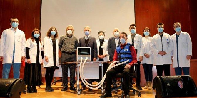 'Göğüs duvarı fizyoterapi cihazı' Kovid-19 hastalarına nefes oldu