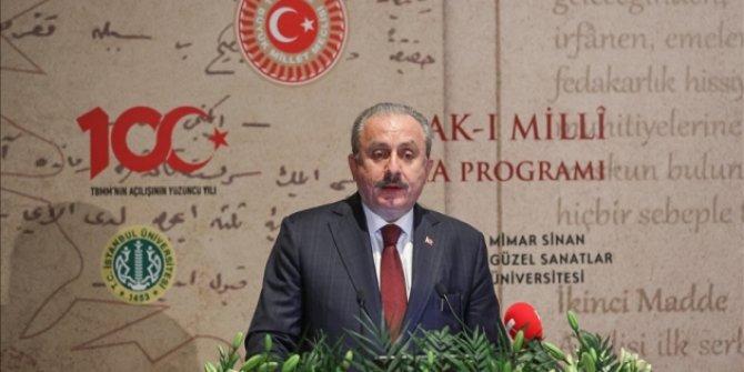 TBMM Başkanı Şentop: Misak-ı Milli, milli hedeflerimizin manifestosudur