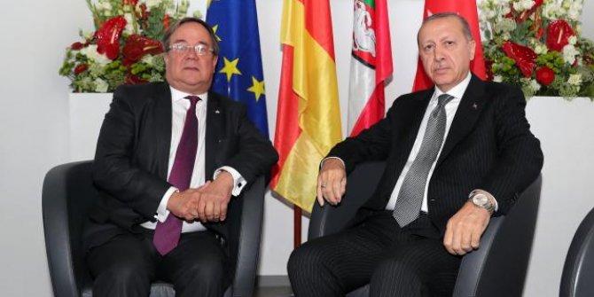 Cumhurbaşkanı Erdoğan, Laschet ile görüştü