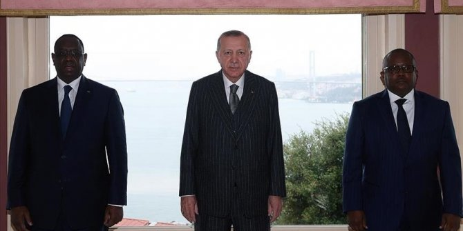 Turkish president meets Guinea-Bissau, Senegal leaders