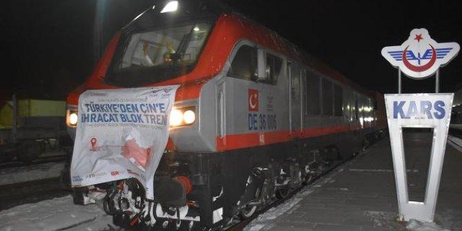Çin'e bor taşıyan tren, Kars'tan Gürcistan'a uğurlandı