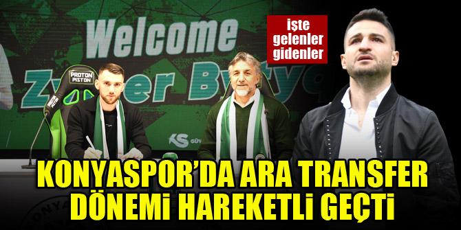 Konyaspor'da ara transfer dönemi hareketli geçti