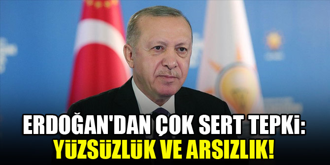 Erdoğan'dan çok sert tepki: Yüzsüzlük ve arsızlık!
