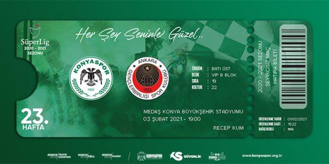 Konyaspor-Gençlerbirliği maçı hatıra biletleri satışta