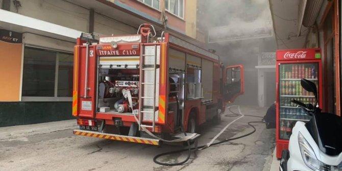 Kilis'te iş yerinde yangın