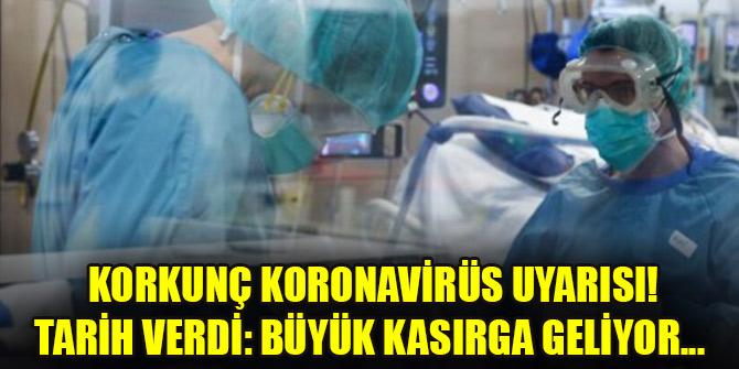 Korkunç koronavirüs uyarısı! Tarih verdi: Büyük kasırga geliyor...