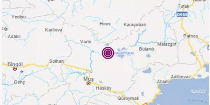 Kandilli duyurdu: Muş'ta deprem