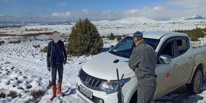 Konya'da belgesiz avlanan 4 kişiye işlem yapıldı