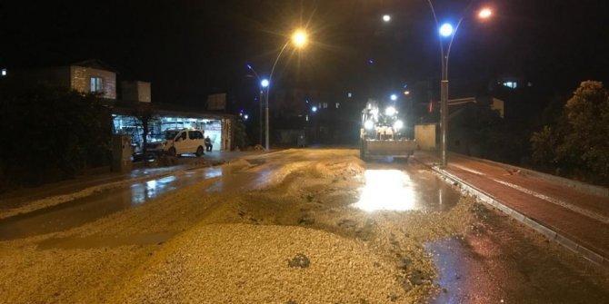 Kemer'de sağanak yağışa karşı tedbirler alındı