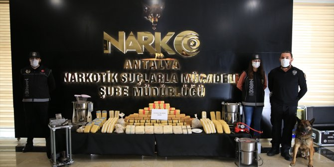 Antalya'da 115 kilo 740 gram eroin ele geçirildi