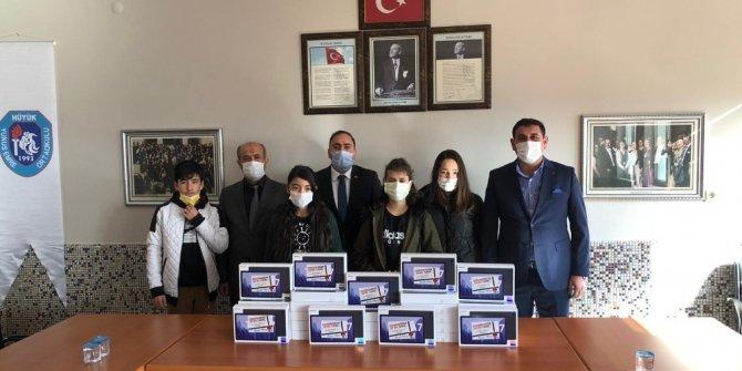 Büyükşehir Belediyesi'nden Hüyük'teki öğrencilere tablet desteği