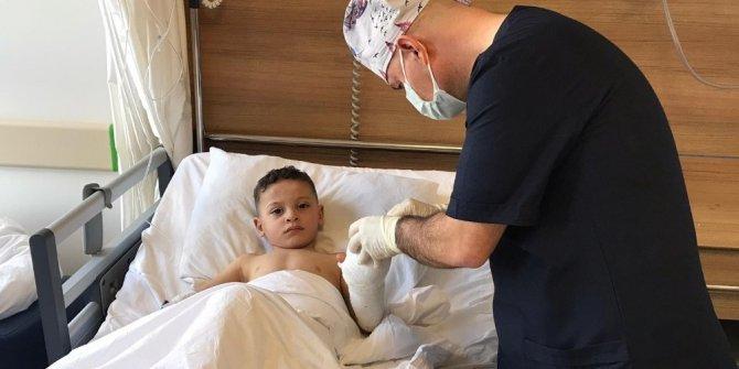 3 yaşındaki çocuk elini kıyma makinesine kaptırdı