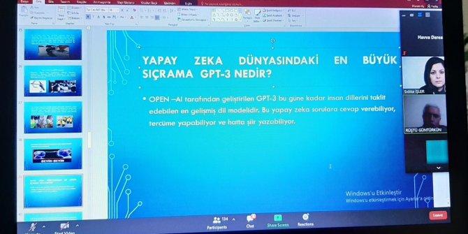"""Konya Öğretmen Mektebi'nde """"Yapay Zekanın Gelişimi ve Uygulama Alanları"""" konuşuldu"""