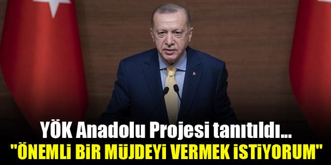 Cumhurbaşkanı Erdoğan: Önemli bir projenin müjdesini vermek istiyorum