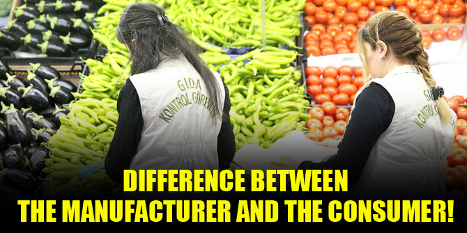 The difference between producer and consumer!