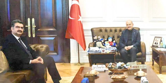 Bakan Soylu Orhan Erdem'i misafir etti