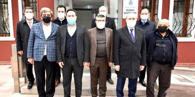 Selçuklu'da başkanlar  muhtarları ziyaret etti