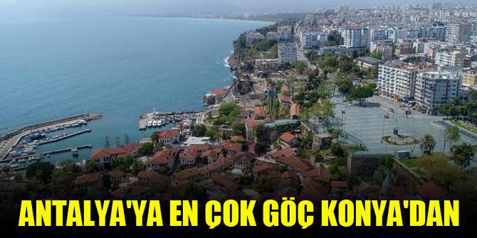 Antalya'ya en çok göç Konya'dan