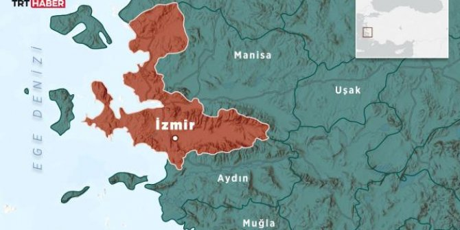 İzmir açıklarında 4,1 büyüklüğünde deprem