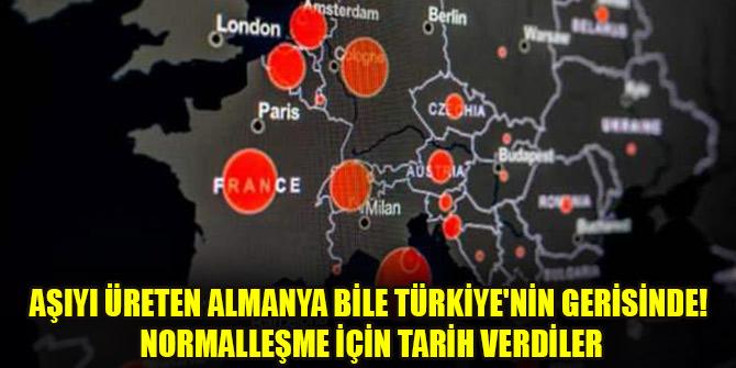 Aşıyı üreten Almanya bile Türkiye'nin gerisinde! Normalleşme için tarih verdiler
