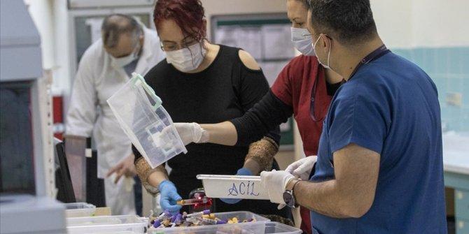 Kovid-19 laboratuvarında virüsün tespiti için zamanla yarışıyorlar