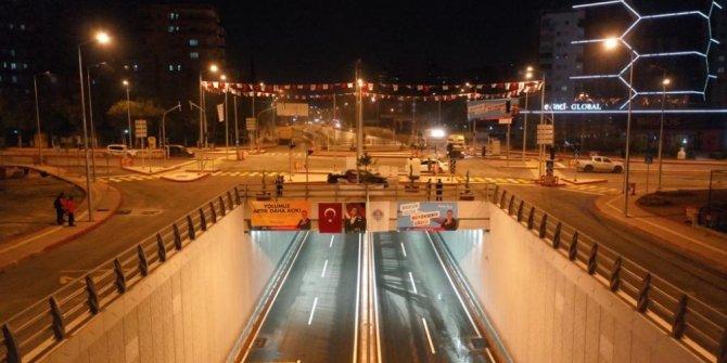 Katlı kavşak 87 günde tamamlanarak trafiğe açıldı