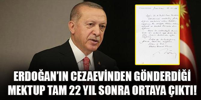 Erdoğan'ın cezaevinden gönderdiği mektup tam 22 yıl sonra ortaya çıktı!