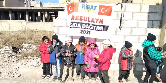 Ribat'tan Resulayn ve İdlib'e yardım eli