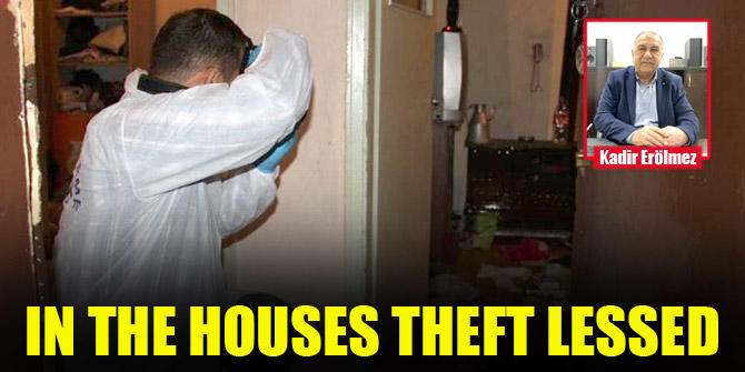 Theft in homes has decreased