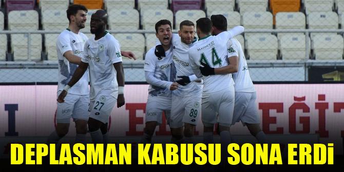 Konyaspor'da deplasman kabusu sona erdi