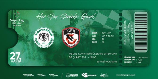 Konyaspor - Gaziantep FK maçının hatıra biletleri satışa çıktı