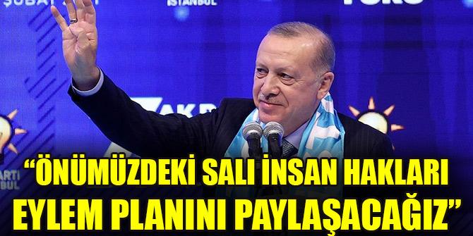 Cumhurbaşkanı Erdoğan: Önümüzdeki salı İnsan Hakları Eylem Planını paylaşacağız