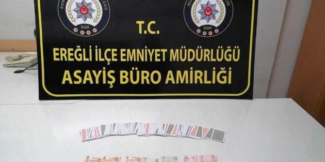 Konya'da kumar oynayan ve Kovid-19 tedbirlerini ihlal eden 14 kişiye para cezası kesildi