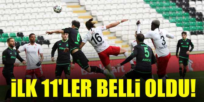 Konyaspor - Gaziantep FK   İLK 11'LER