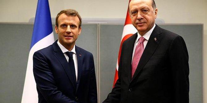 Erdoğan, Fransa Cumhurbaşkanı Macron ile görüştü