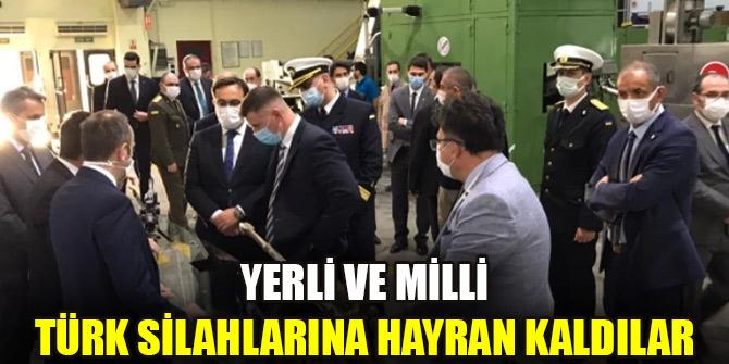 Yerli ve milli Türk silahlarına hayran kaldılar