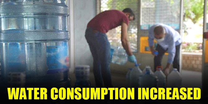 Water consumption has increased