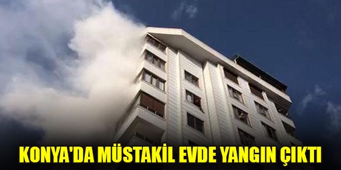 Konya'da müstakil evde yangın çıktı