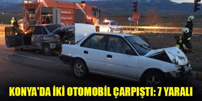 Konya'da iki otomobil çarpıştı: 7 yaralı