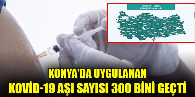 Konya'da uygulanan covid-19 aşı sayısı 300 bini geçti