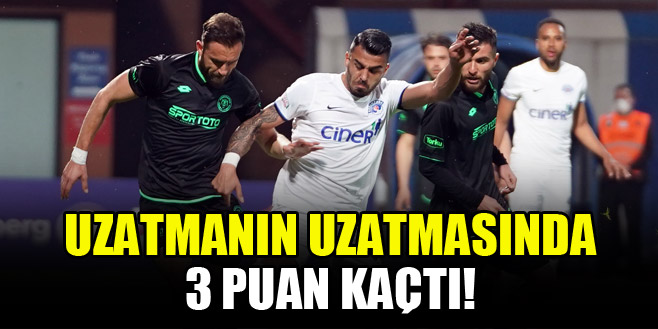 Konyaspor, uzatmanın uzatmasında galibiyeti kaçırdı!