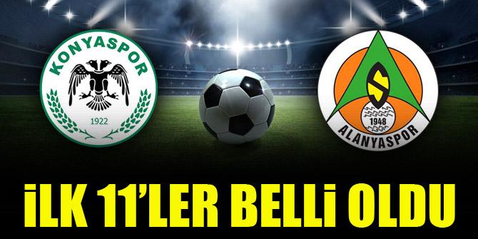 Konyaspor - Alanyaspor   İLK 11'LER!