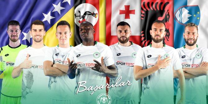 Konyaspor'un 7 oyuncusuna milli davet