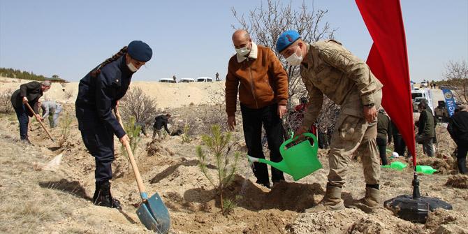 Konya'da 21-26 Mart Orman Haftası nedeniyle fidan dikim etkinliği yapıldı
