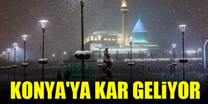 Konya'ya kar geliyor