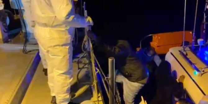 Pınar Adası'na sığınan 36kaçak göçmen kurtarıldı