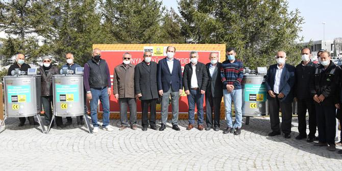 Konya Büyükşehir'den bal üreticilerine destek