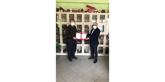 Konya itfaiyesi Covid-19 Güvenli Hizmet Belgesi alan ilk teşkilat oldu