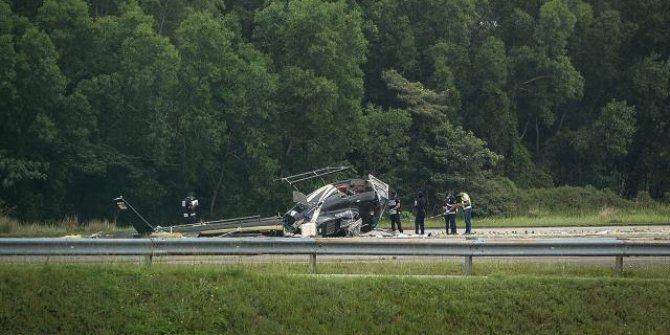 Malezya'da helikopter düştü: 5 yaralı