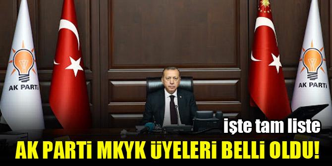 AK Parti MKYK üyeleri belli oldu! İşte tam liste